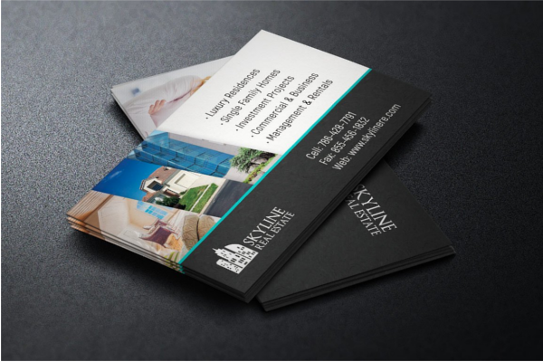 30 real estate business card templates free design ideas realtor business card template accmission Images
