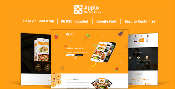 Recipe Restaurant Landing Page Theme