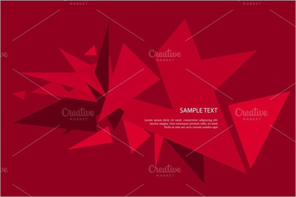 Red Triangle Vector Template