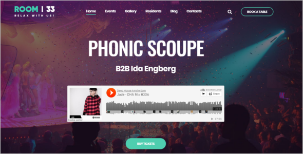 Relaxation Music Event WordPress Theme