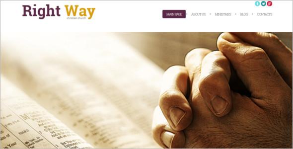 Religious WordPress Template