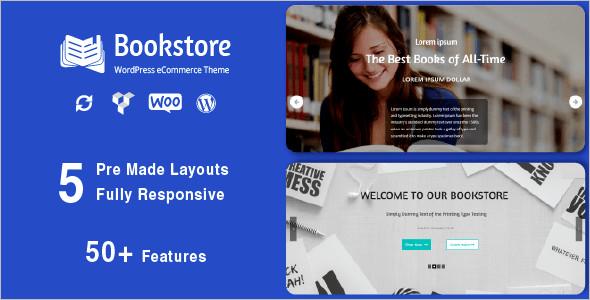Responsive Book Store WordPress Theme