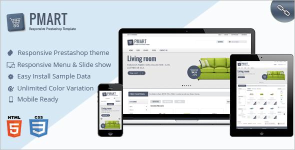 Responsive & Clean PrestaShop Ecommerce theme