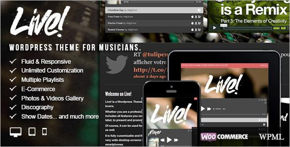 Responsive Entertainment WordPress Template