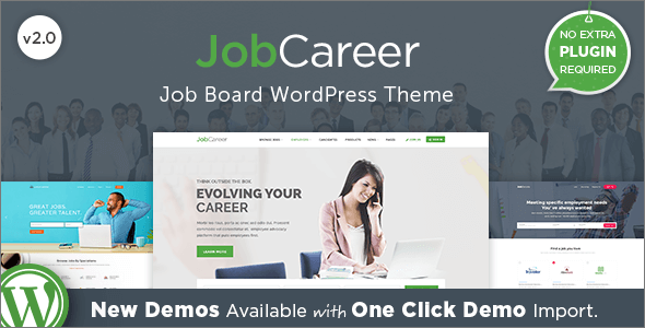 Responsive Job Portal WordPress Theme