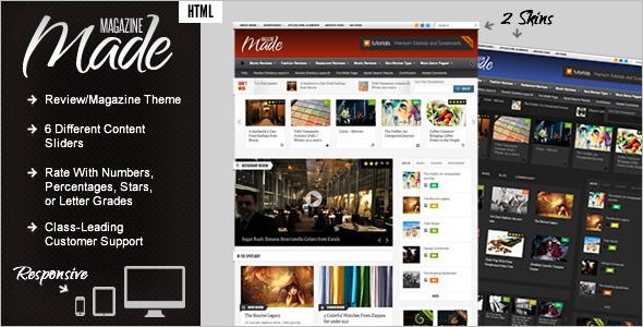 Responsive Magazine PHP Theme