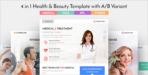 Responsive Spa Landing Page Template