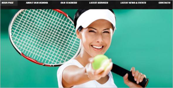 Responsive Tennis WordPress Template