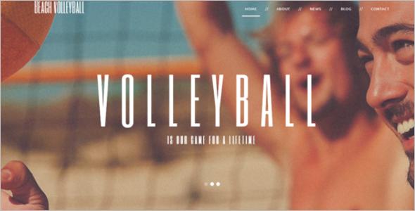 Responsive Volleyball WordPress Theme