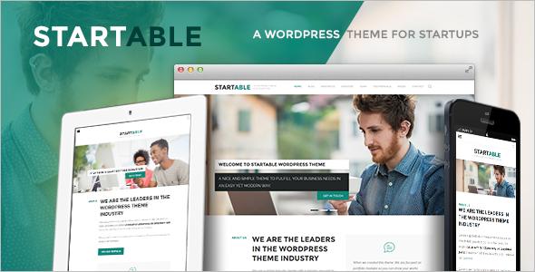 Responsive WordPress Theme for Startups