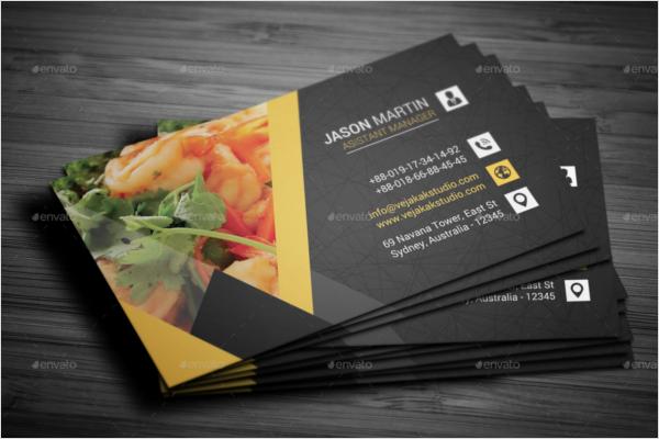 Restaurant Business Cards Design