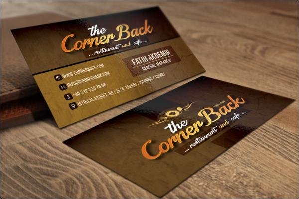 Restaurant & Cafe Business Card Design