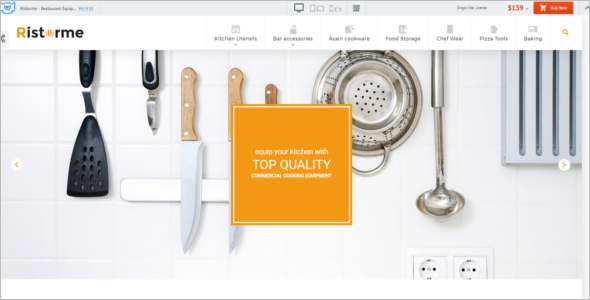 Restaurant Equipment & Houseware PrestaShop Theme