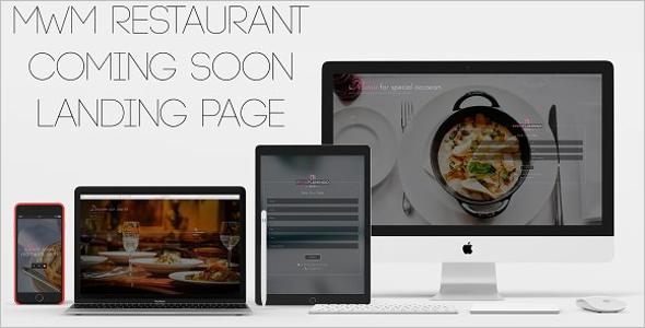 Restaurant HTML5 Landing Page Template