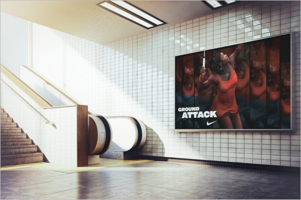Retro Billboard Mockup PSD Design
