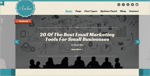 Retro Blog Marketing WordPress Theme