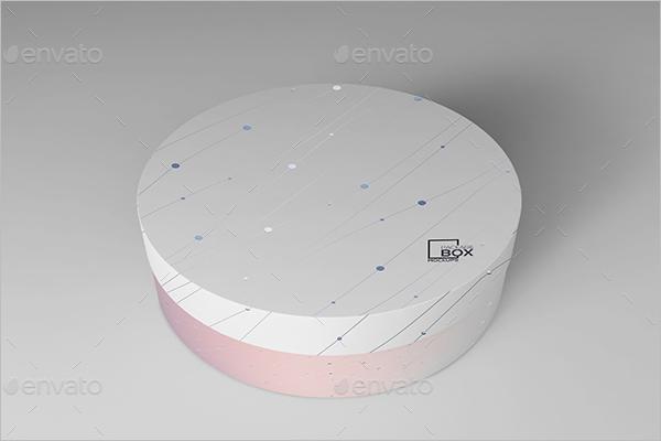 Round Gift Box PSD Design