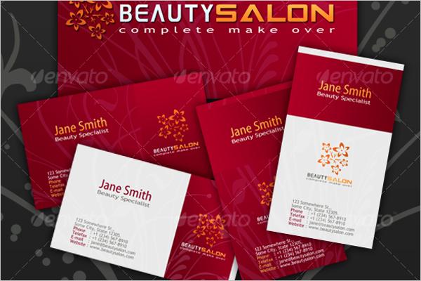 Salon Business Card Vector Design