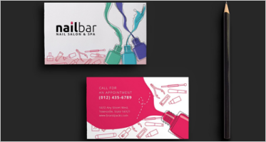 Salon Business Cards