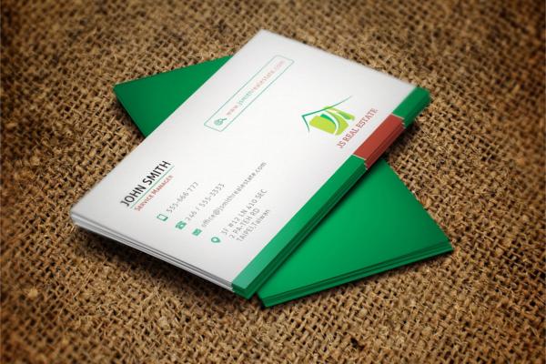 Sample Real Estate Business Card Design