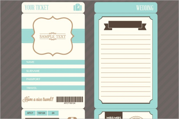 Sample Ticket Mockup Design