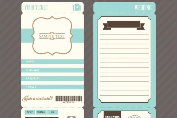 Sample Ticket Mockup Design