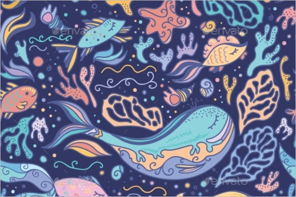 Sea Animals Tropical Pattern