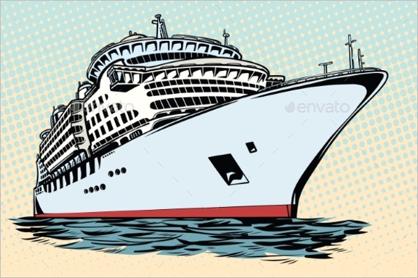 Sea Travel Ship Vector Art
