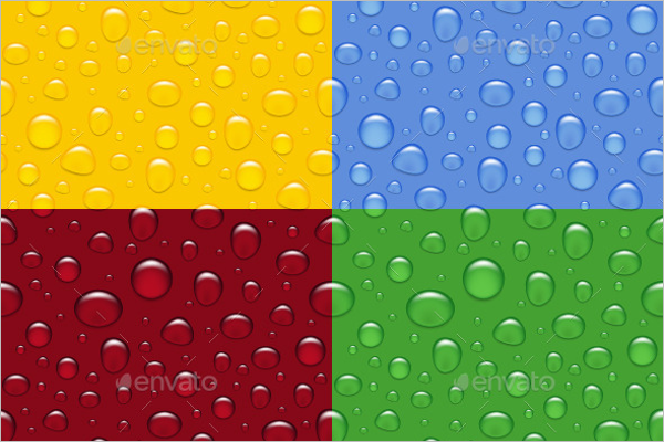 Seamless Premium Rain Drops