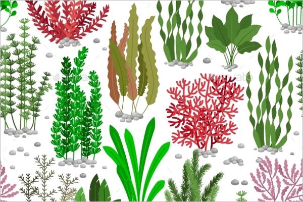 Seaweed Seamless Pattern