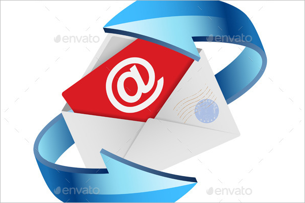 Security Post Card Vector Template