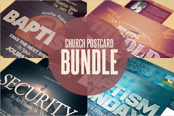 Security Postcard Bundle Template
