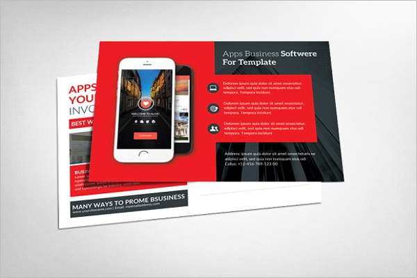 Security Postcard PSD Template