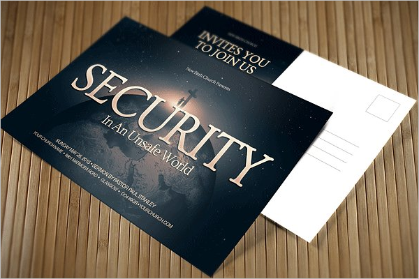 Security Postcard Template