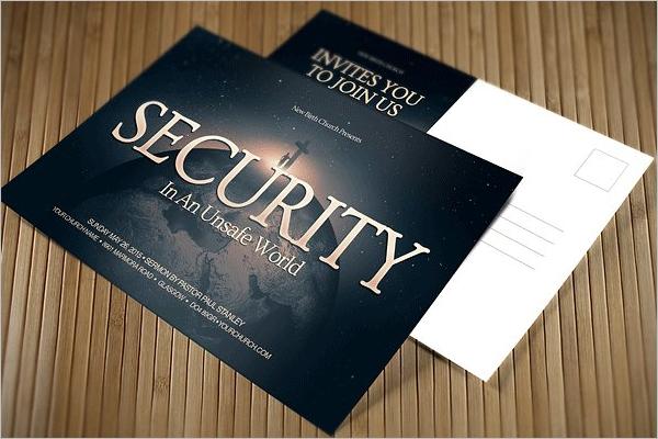 Security Postcard Template