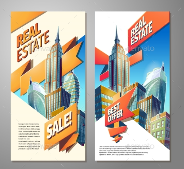 Set of Advertising Poster Design