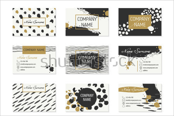 Set of Fashion Business Cards