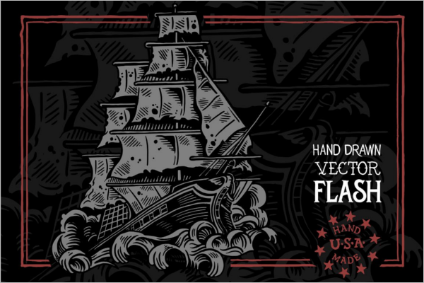 Ship Art Vector Flash Design