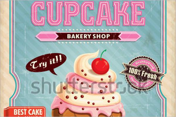 Simple Cupcake Postcard Design