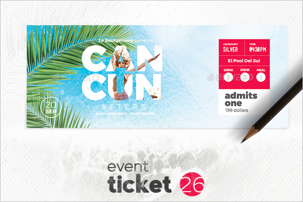 Simple Event Ticket Template
