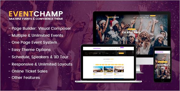 Simple EventWordPress Theme