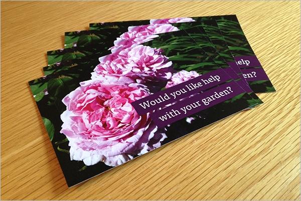 Simple Garden Postcard Template