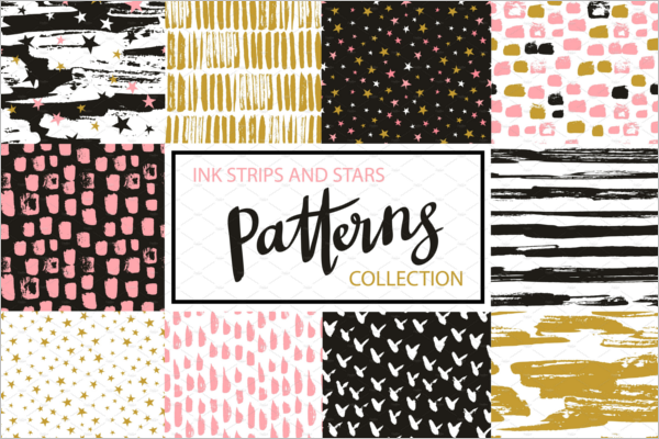 Simple Hipster Seamless Pattern