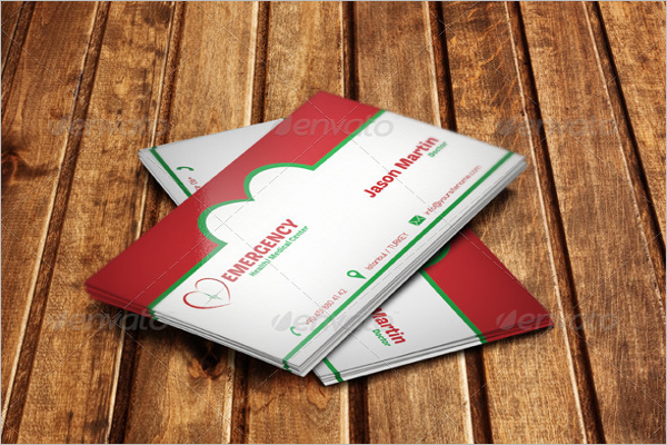 Simple Hospital Business Card