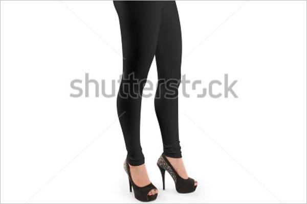 Simple Legging Mockup Design