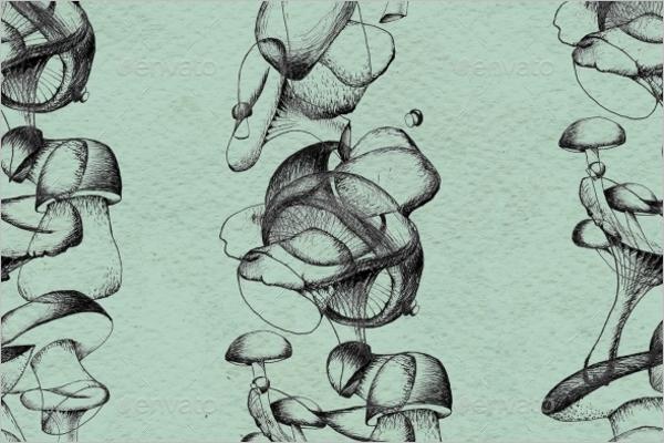 Simple Mushroom Pattern