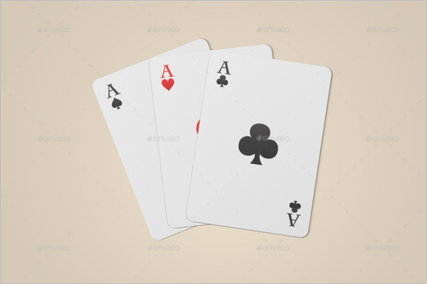 Simple Playing Card Mock up