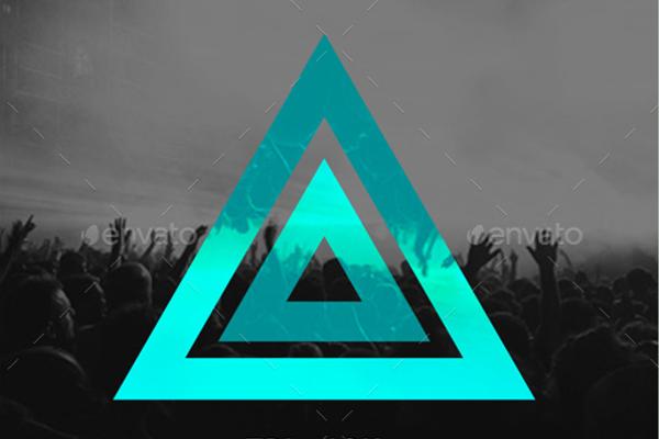 Simple Triangle Geometric Template