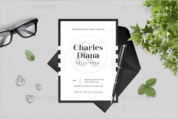 Simple Wedding Postcard Design