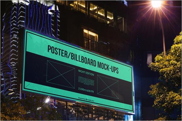 Signboard Billboard Mockup PSD Design